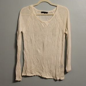 Rag & Bone White Mesh Sweater